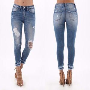MARLENE Distressed Skinny Jeans